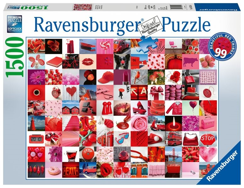 99 beautiful red things - Puzzle mit 1500 Teilen, 2019 (Cover)