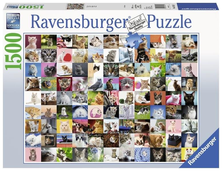 Abbildung von 99 Katzen - Puzzle mit 1500 Teilen   2019