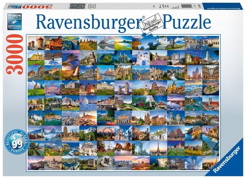Abbildung von 99 beautiful Places of Europe - Puzzle mit 3000 | 2019