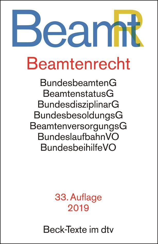 Beamtenrecht: BeamtR | 33. Auflage, 2019 | Buch (Cover)