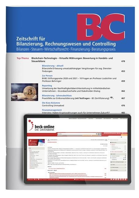 Abbildung von BC • Zeitschrift für Bilanzierung, Rechnungswesen und Controlling | 43. Jahrgang | 2019