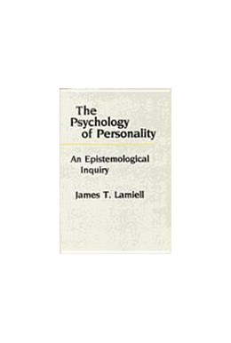 Abbildung von Lamiell | The Psychology of Personality | 1987 | An Epistemological Inquiry