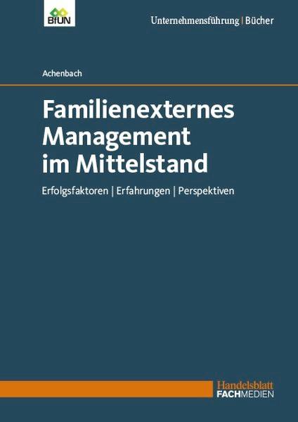 Abbildung von Achenbach    Familienexternes Management im Mittelstand    2018