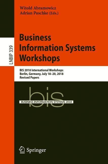 Abbildung von Abramowicz / Paschke   Business Information Systems Workshops   1st ed. 2019   2019