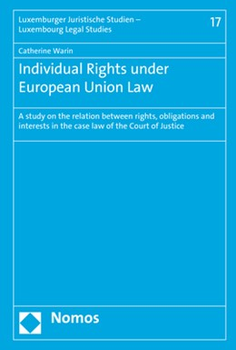 Abbildung von Warin | Individual Rights under European Union Law | 1. Auflage | 2019 | beck-shop.de