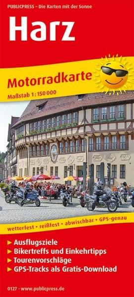 Motorradkarte Harz 1:150 000   9. Auflage, 2018 (Cover)