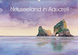 Abbildung von Krause | Neuseeland in Aquarell (Wandkalender 2019 DIN A2 quer) | 1. Edition 2018 | 2018 | Handgemalte Aquarelle einer Re...