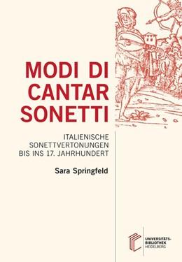 Abbildung von Springfeld | Modi di cantar sonetti | 1. Auflage | 2018 | beck-shop.de