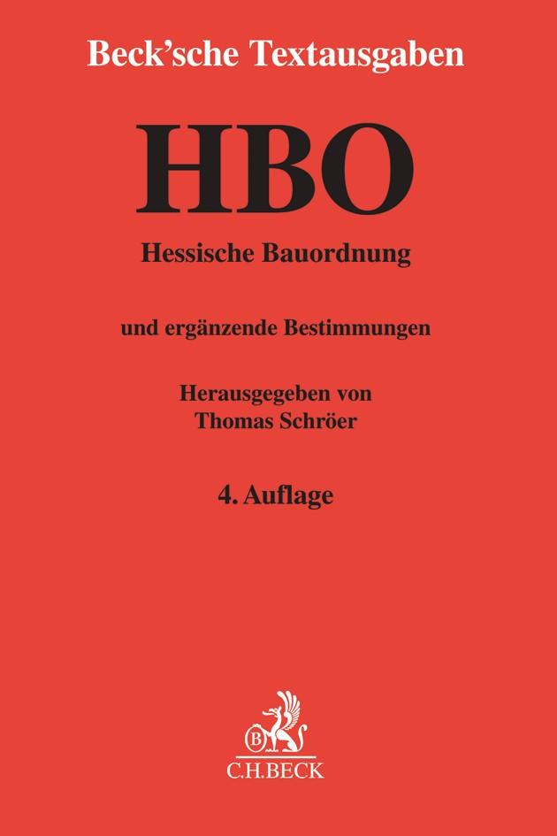Hessische Bauordnung: HBO | 4. Auflage, 2019 | Buch (Cover)