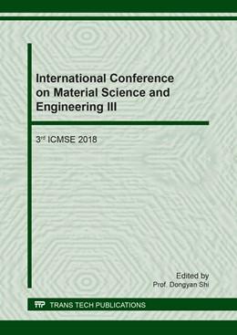 Abbildung von Shi | International Conference on Material Science and Engineering III | 1. Auflage | 2018 | Volume 783 | beck-shop.de