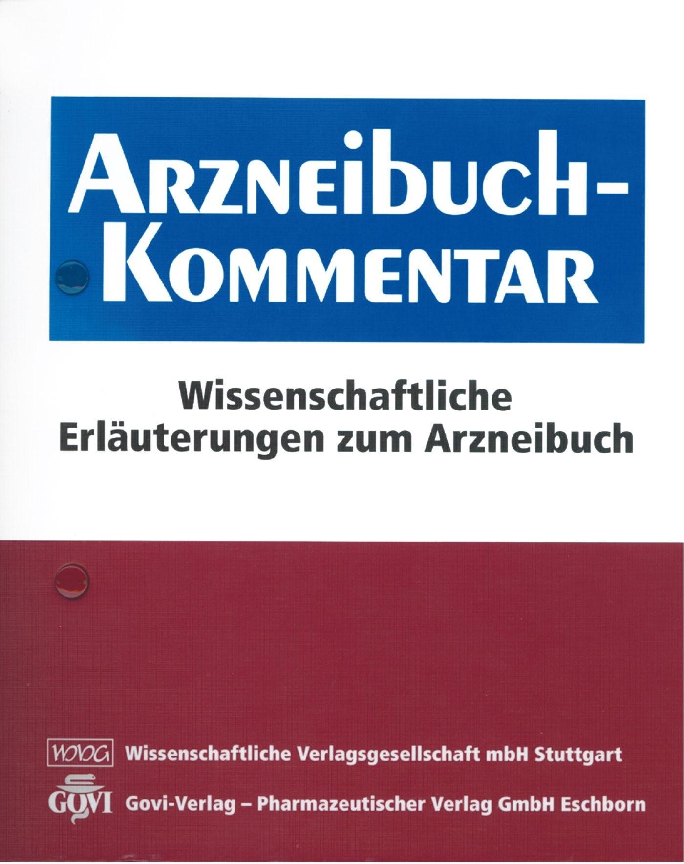 Arzneibuch-Kommentar | Bracher / Heisig / Langguth / Mutschler / Rücker / Schirmeister / Scriba / Stahl-Biskup / Troschütz, 2018 (Cover)
