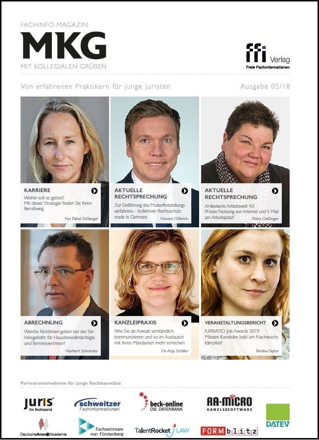 Abbildung von Fachinfo-Magazin  MkG • Ausgabe 05/2018   2018