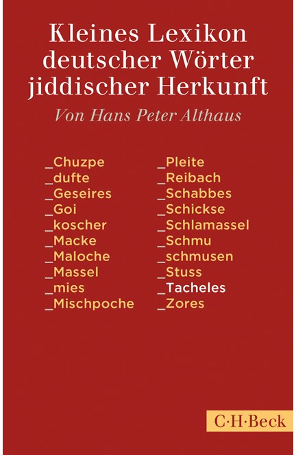 Cover: , Kleines Lexikon deutscher Wörter jiddischer Herkunft