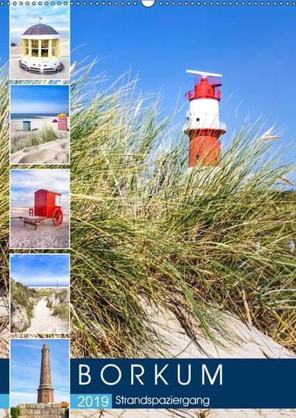 Abbildung von Dreegmeyer | Borkum Strandspaziergang (Wandkalender 2019 DIN A2 hoch) | 1. Edition 2018 | 2018