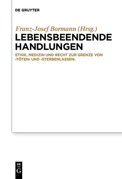 Lebensbeendende Handlungen | Bormann, 2018 | Buch (Cover)