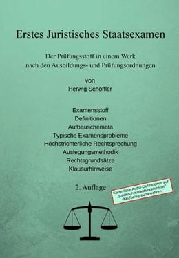 Abbildung von Schöffler | Erstes Juristisches Staatsexamen | 2. Auflage | 2019 | beck-shop.de