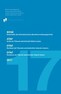 Entscheide des Schweizerischen Bundesverwaltungsgerichts: BVGE 2017, 2018   Buch (Cover)
