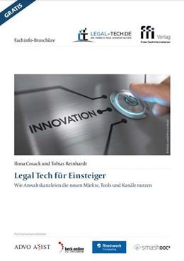 Abbildung von Cosack / Reinhardt | Legal Tech für Einsteiger | 1. Auflage | 2018 | beck-shop.de