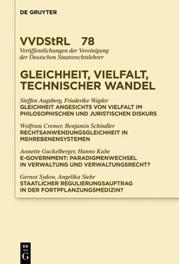 Abbildung von Sacksofsky   Gleichheit, Vielfalt, technischer Wandel   1. Auflage   2019   78   beck-shop.de