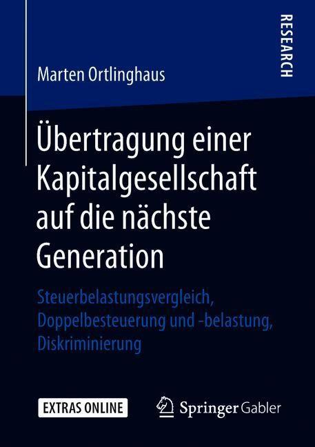 Übertragung einer Kapitalgesellschaft auf die nächste Generation | Ortlinghaus, 2018 | Buch (Cover)