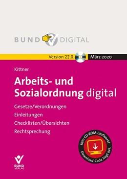 Abbildung von Kittner | Arbeits- und Sozialordnung digital Vers. 22.0 | 2020 | Gesetze/Verordnungen - Einleit...