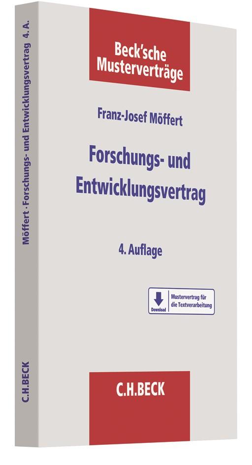 Der Forschungs- und Entwicklungsvertrag | Möffert | 4. Auflage, 2019 | Buch (Cover)
