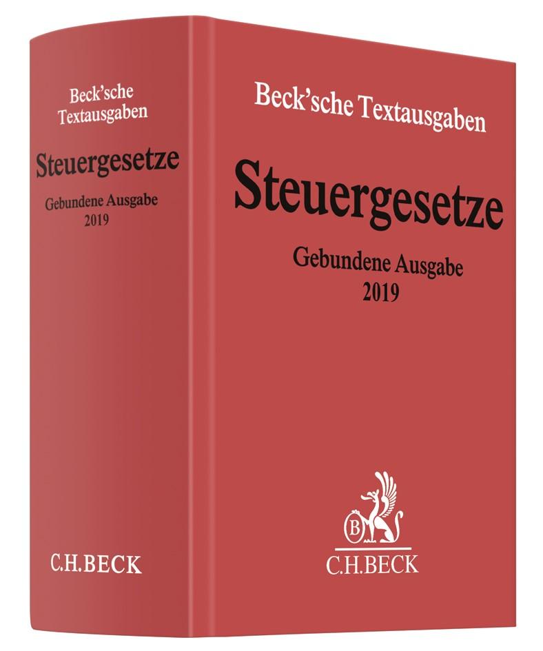Steuergesetze Gebundene Ausgabe 2019, 2019 | Buch (Cover)