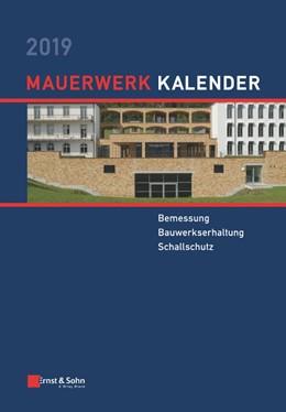 Abbildung von Jäger   Mauerwerk-Kalender 2019   1. Auflage   2019   beck-shop.de