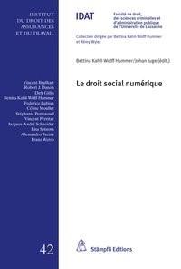 Le droit social numérique   Kahil-Wolff Hummer / Juge, 2018   Buch (Cover)