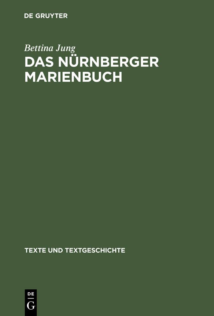 Das Nürnberger Marienbuch | Jung | Reprint 2012, 2004 | Buch (Cover)