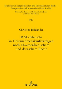 Abbildung von Bohländer | MAC-Klauseln in Unternehmenskaufverträgen nach US-amerikanischem und deutschem Recht | 2018 | 197