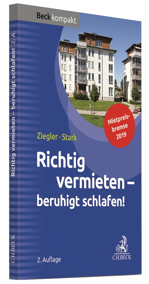 Richtig vermieten - beruhigt schlafen! | Ziegler / Stark | 2. Auflage, 2019 | Buch (Cover)
