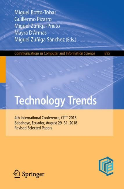 Technology Trends | Botto-Tobar / Pizarro / Zúñiga-Prieto / D'Armas / Zúñiga Sánchez | 1st ed. 2019, 2018 | Buch (Cover)