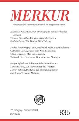 Abbildung von Demand | MERKUR Gegründet 1947 als Deutsche Zeitschrift für europäisches Denken - 2018-12 | 1. Auflage | 2018 | beck-shop.de