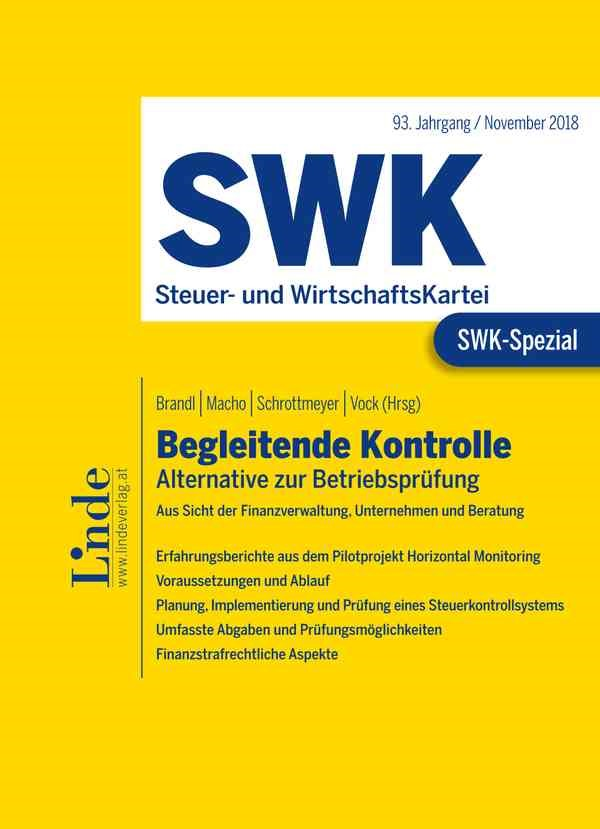 SWK-Spezial Begleitende Kontrolle   Brandl / Macho / Schrottmeyer / Vock   1. Auflage 2019, 2018   Buch (Cover)