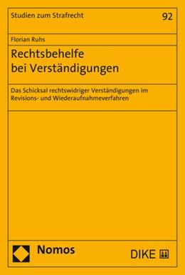 Abbildung von Ruhs | Rechtsbehelfe bei Verständigungen | 1. Auflage | 2018 | beck-shop.de