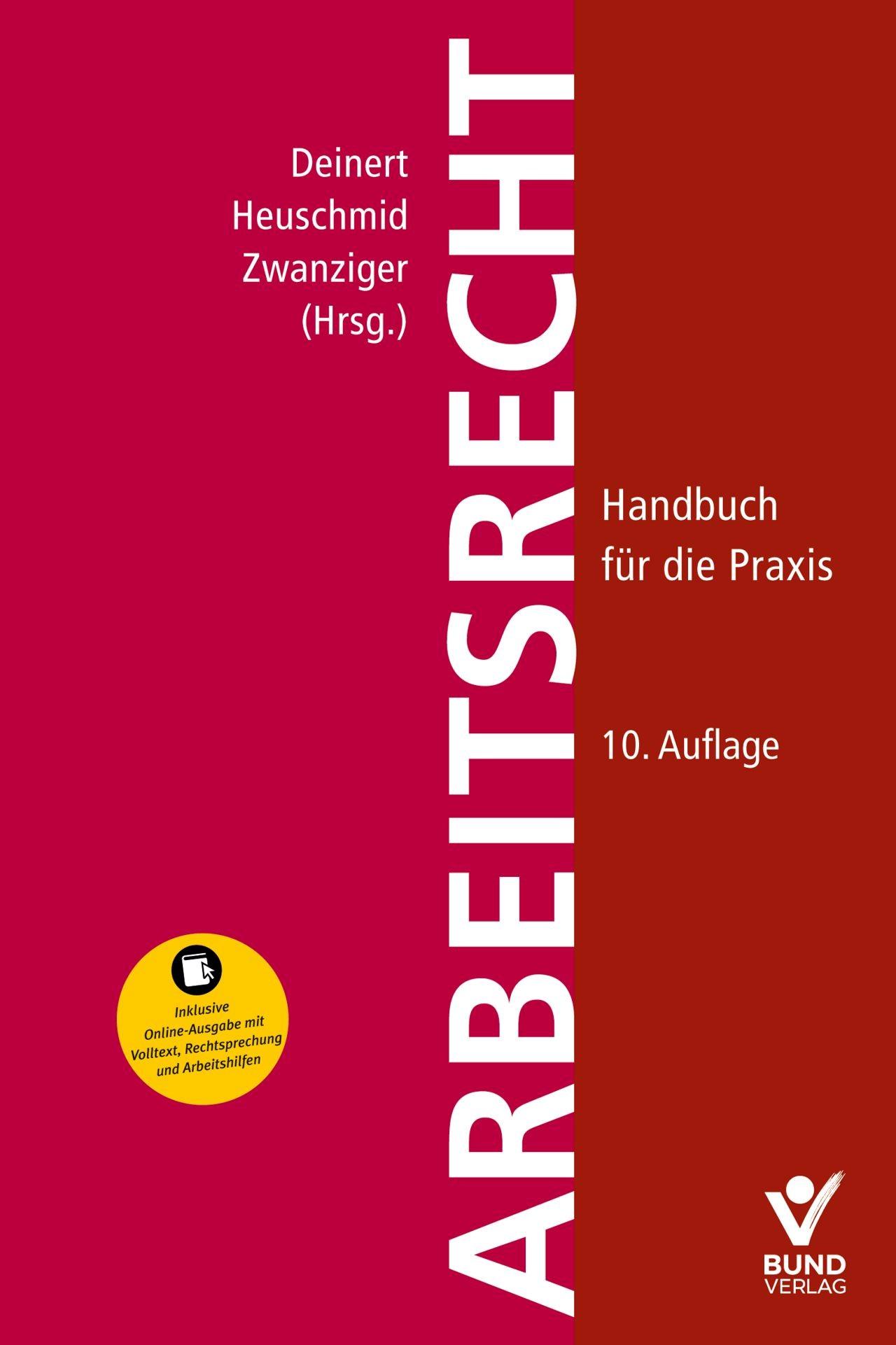 Arbeitsrecht | Kittner / Zwanziger / Deinert / Heuschmid (Hrsg.) | 10., überarbeitete und aktualisierte Auflage, 2019 | Buch (Cover)