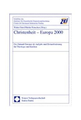 Abbildung von Fürst / Honecker | Christenheit - Europa 2000 | 2001 | Die Zukunft Europas als Aufgab... | 31