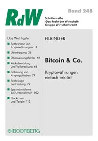 Abbildung von Filbinger | Bitcoin & Co | 2019