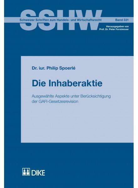 Die Inhaberaktie   Spoerlé, 2018   Buch (Cover)