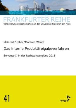 Abbildung von Wandt / Dreher   Das interne Produktfreigabeverfahren   1. Auflage   2019   beck-shop.de