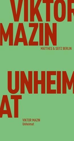 Abbildung von Mazin / Velminski | Unheimat | 1. Auflage | 2020 | beck-shop.de