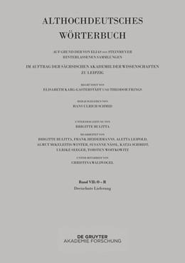 Abbildung von Schmid | Althochdeutsches Wörterbuch | 2019 | Band VII: O –R. 13. Lieferung ...