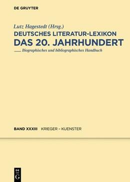 Abbildung von Hagestedt   Deutsches Literatur-Lexikon. Das 20. Jahrhundert   1. Auflage   2019   beck-shop.de