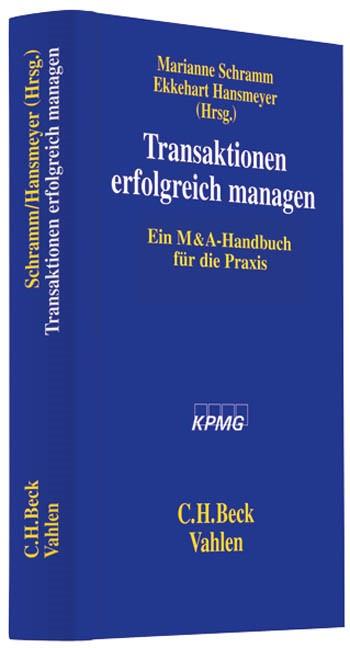 Transaktionen erfolgreich managen | Schramm / Hansmeyer, 2009 | Buch (Cover)