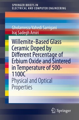 Abbildung von Sarrigani / Amiri   Willemite-Based Glass Ceramic Doped by Different Percentage of Erbium Oxide and Sintered in Temperature of 500-1100C   1st ed. 2019   2019   Physical and Optical Propertie...