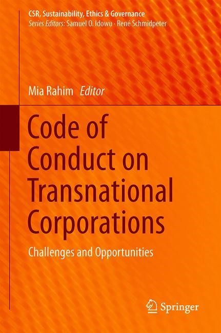 Code of Conduct on Transnational Corporations | Rahim | 1st ed. 2019, 2018 | Buch (Cover)