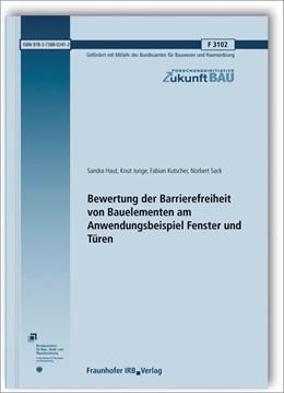 Abbildung von Haut / Junge | Bewertung der Barrierefreiheit von Bauelementen am Anwendungsbeispiel Fenster und Türen. | 1. Auflage | 2018 | beck-shop.de