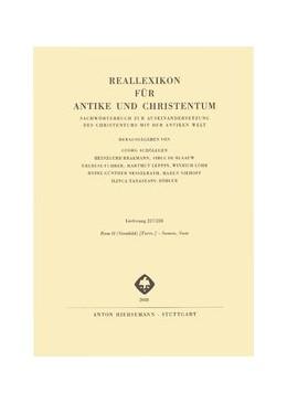 Abbildung von Reallexikon für Antike und Christentum | 1. Auflage | 2018 | beck-shop.de