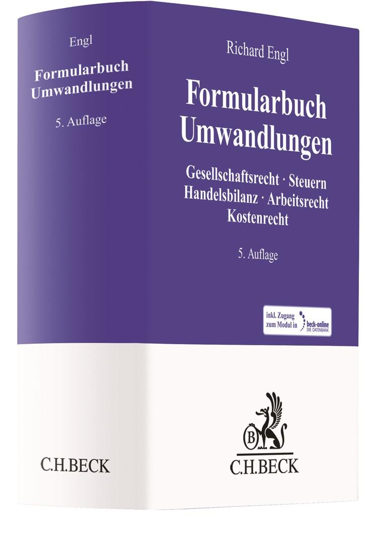 Abbildung von Engl | Formularbuch Umwandlungen | 5. Auflage | 2020